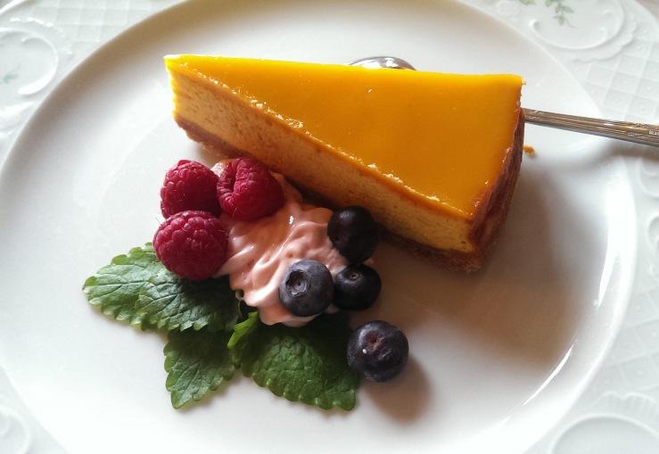 Пирог манго. Mango cheesecake.