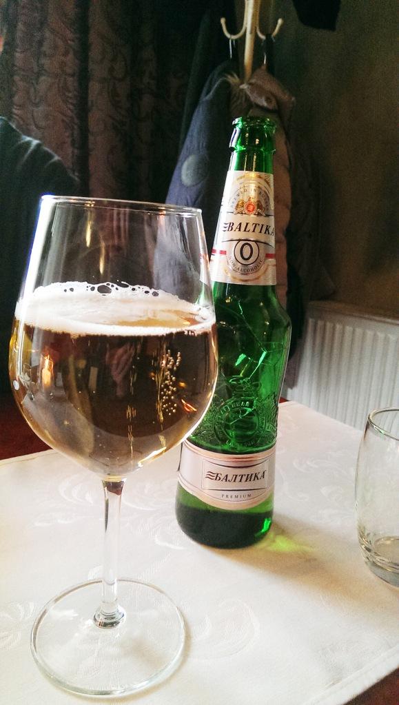 Baltika beer.