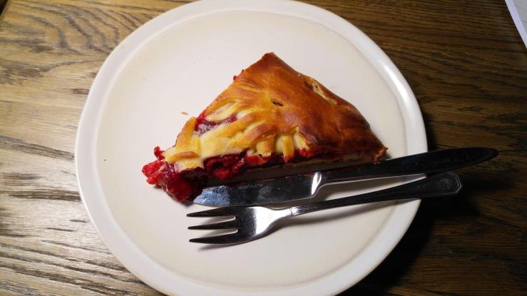 Пирог с малиной. Pie with raspberry.